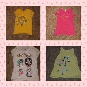 7/8 girls short sleeved bundle